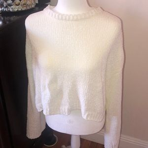 Sweaters - White chenille pullover sweater